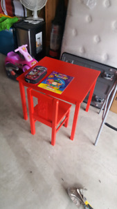 Ikea children red table and chair