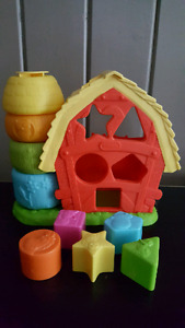 Little tikes stacking farm and shape sorter