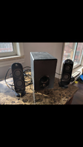 Logitech X230 speakers and sub