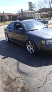 2003 audi a4 quattro speed.  Very fast