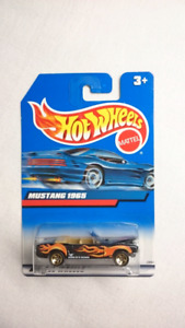 HOT WHEELS MUSTANG 1965 CONVERTIBLE BLACK WITH FLAMES DIECAST