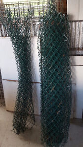Green Plastic Coated Fencing 4 feet High