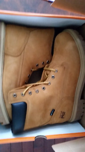 "Brand new never worn timberland pro direct attach 8"" work boots."