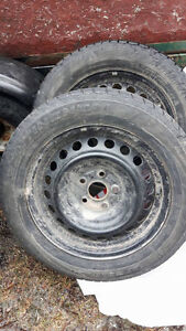 Reduced ! WINTER TIRES WITH STEEL RIMS