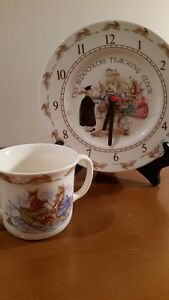 Royal Doulton Bunnykins Mug and Teaching Clock