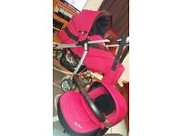 red silver cross travel system