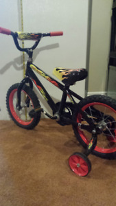 Boy's Road Racer Bicycle with training wheels