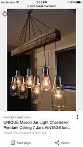 Hand crafted *BARN WOOD* chandelier