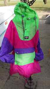 K-WAY - 80's Party- Vintage Neon Hip Sack Coat
