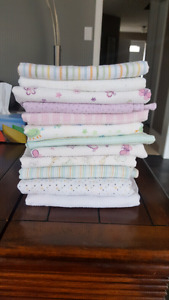 Set of 12 receiving blankets