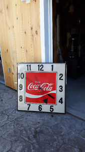 Lighted coke clock