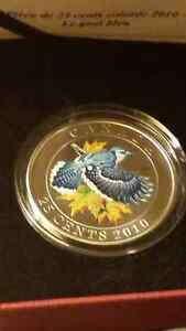 2010 blue jay 25 cent coin.