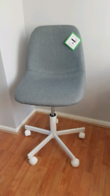 Brand new grey swival office chair