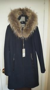 Soia & Kyo wool coat with fur trim