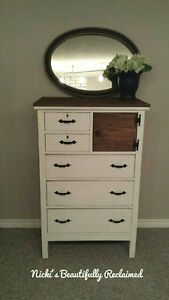Beautifully reclaimed antique wood dresser