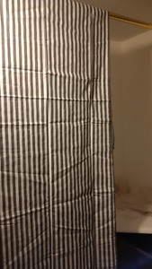 "7x Bacati Grey/White Striped Curtain Panel 80""Hx40""W  NEW IN PKG"