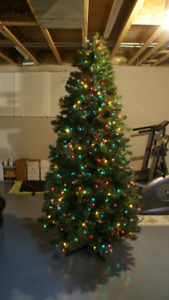 Pre-Lite Christmas tree with stand