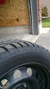 winter rims with tires Kitchener / Waterloo Kitchener Area image 1