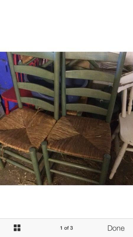 Set of 4 sturdy chairs green buy sale and trade ads - Garden furniture kings lynn ...
