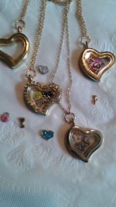 Lockets with Charms  $10  each