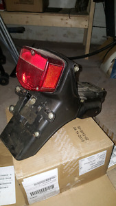 Rear brake light with metal fender and licence plate 1981 cb400t