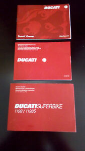DUCATI 1198/1098S OWNER MANUAL PERFECT CONDITIONS