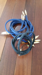 Audio and Video cables assorted