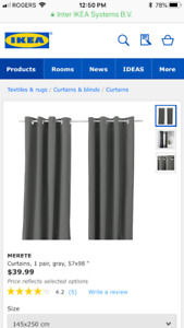 IKEA Merete curtains- Brand New