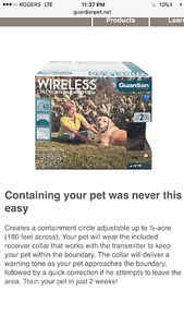 Guardian wireless electric pet fence