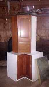Upper and lower corner cabinets