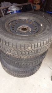 Dodge steel rims with winter tires