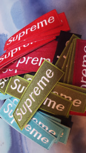 Supreme Iron on Patches