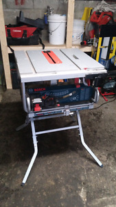 Bosch table saw with stand