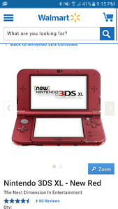 Lost Red Nintendo DS XL