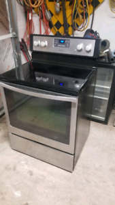Maytag stainless steel glass top stove