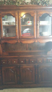 Excellent shape wooden china cabinet/hutch