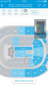 2 tickets for Kid Rock in Toronto - lower bowl
