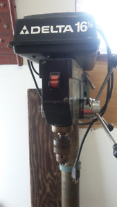 "DELTA  16 1/2 "" FLOOR DRILL PRESS."