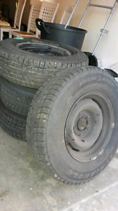 Barely Used Snow Tires on Rims