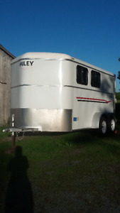 Fully Saftied /UTD 2 Horse MILEY slant load trailer - $10,000
