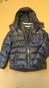 Tommy Hilfiger HOODED PUFFER WINTER Jacket, Boys size S (6/7)
