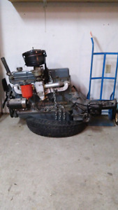 Chev inline engine and trany for sale