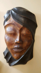 Wooden Wall Mask