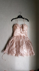 Lord and Taylor, Glitter and Champagne Prom Dress