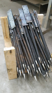Concrete forming stakes