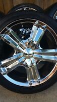 4 MAZZI RIMS WITH GENERAL EXCLAIM TIRES 205/45/16