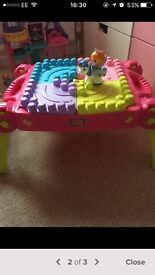 Mega bloks play table