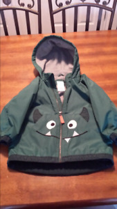 Toddlers wind and rain jacket really warm