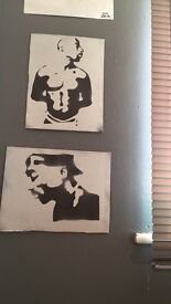 2PAC spray paints - tupac poster art