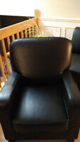 Black armchair in excellent condition